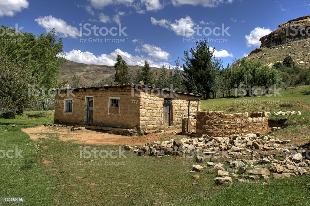 House in Lesotho stock photo