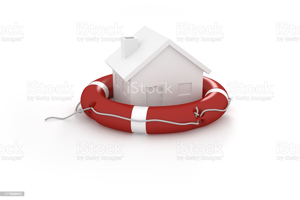 House in lifesaver royalty-free stock photo