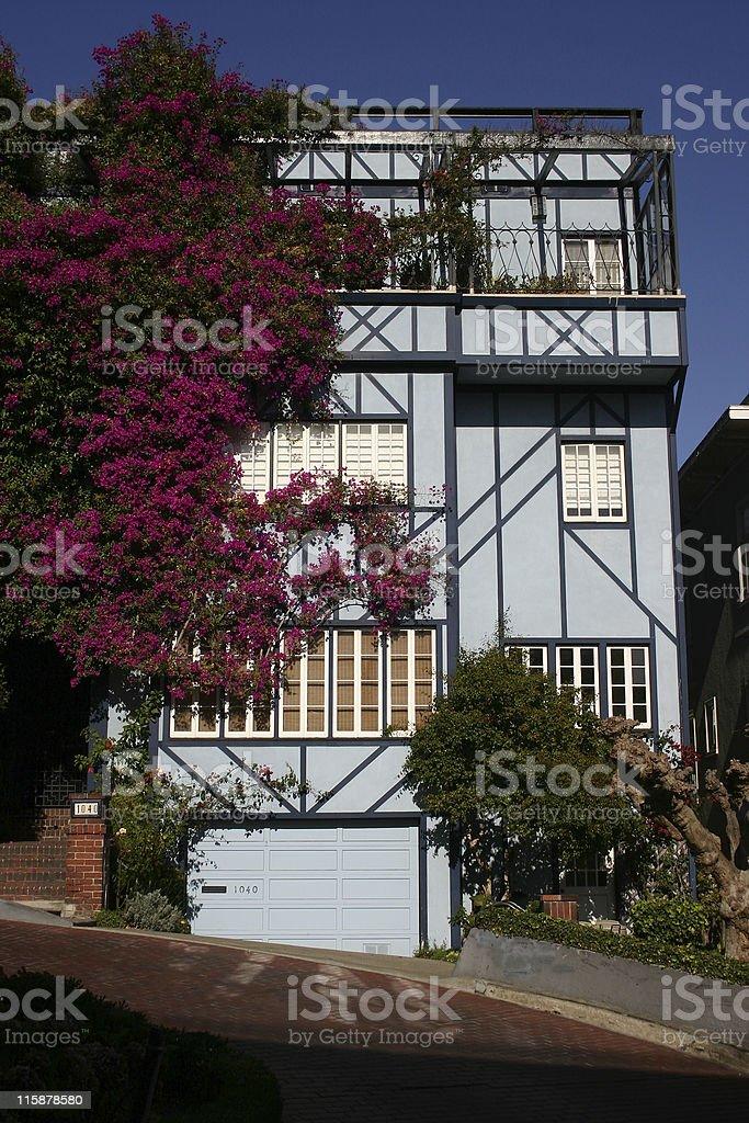 House in Lombard Street, San Francisco royalty-free stock photo