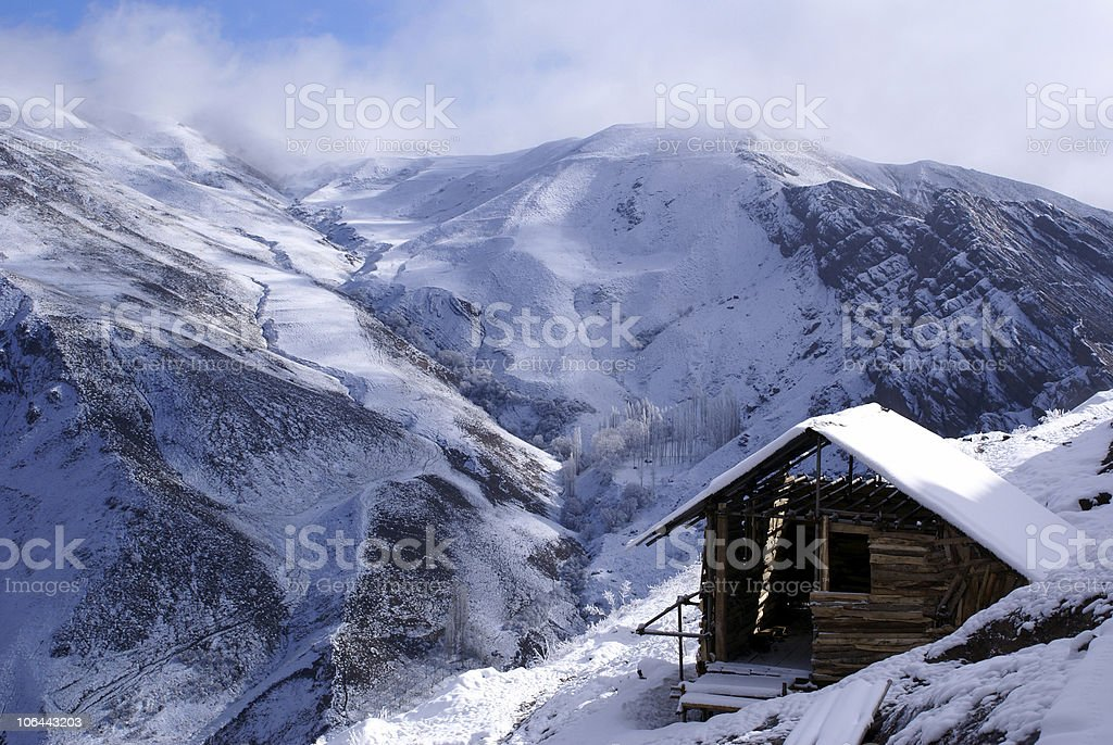 House in mountain royalty-free stock photo