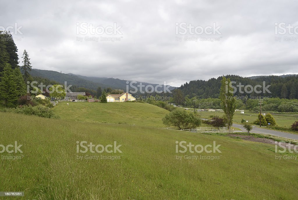 House in Northern California royalty-free stock photo