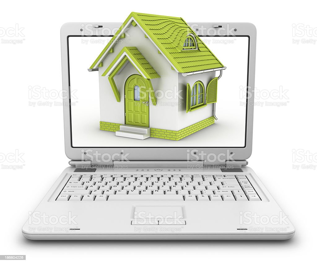 house in notebook royalty-free stock photo