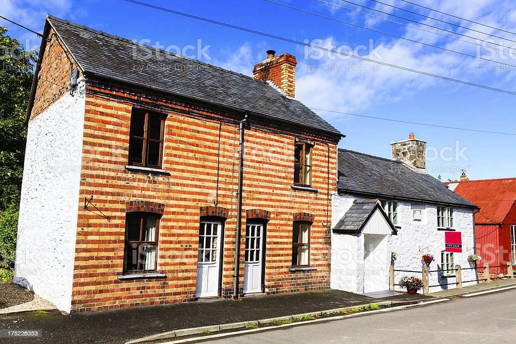 House in Penybontfawr Powys, Wales royalty-free stock photo