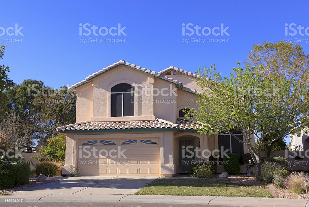 House in Phoenix, Arizona royalty-free stock photo