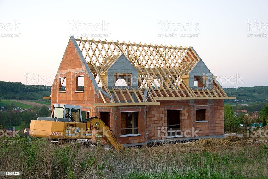House in Progress stock photo