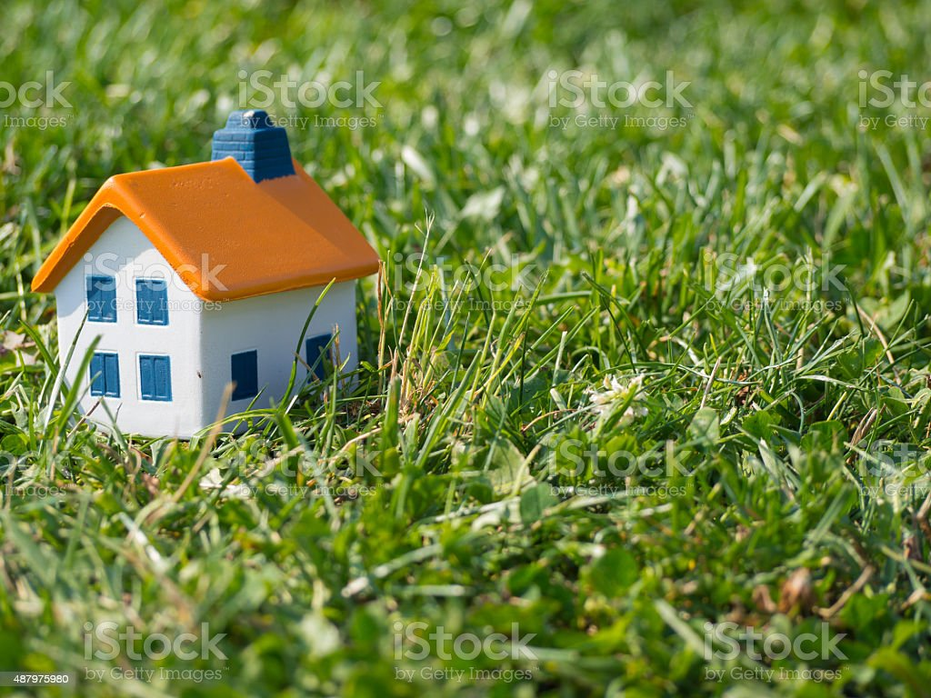 House in the countryside stock photo