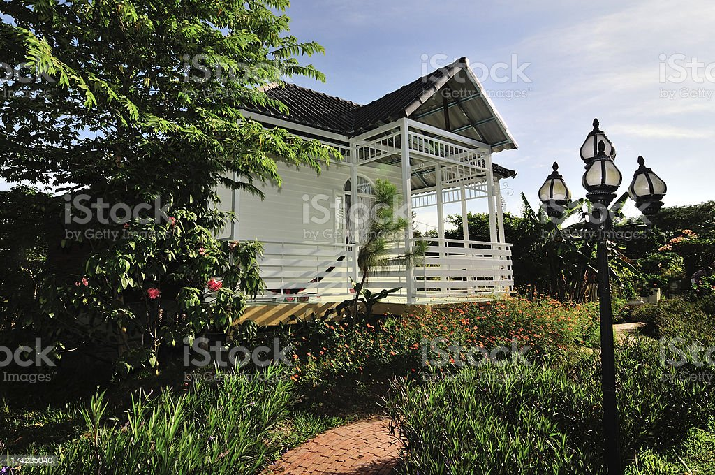 House in the garden royalty-free stock photo