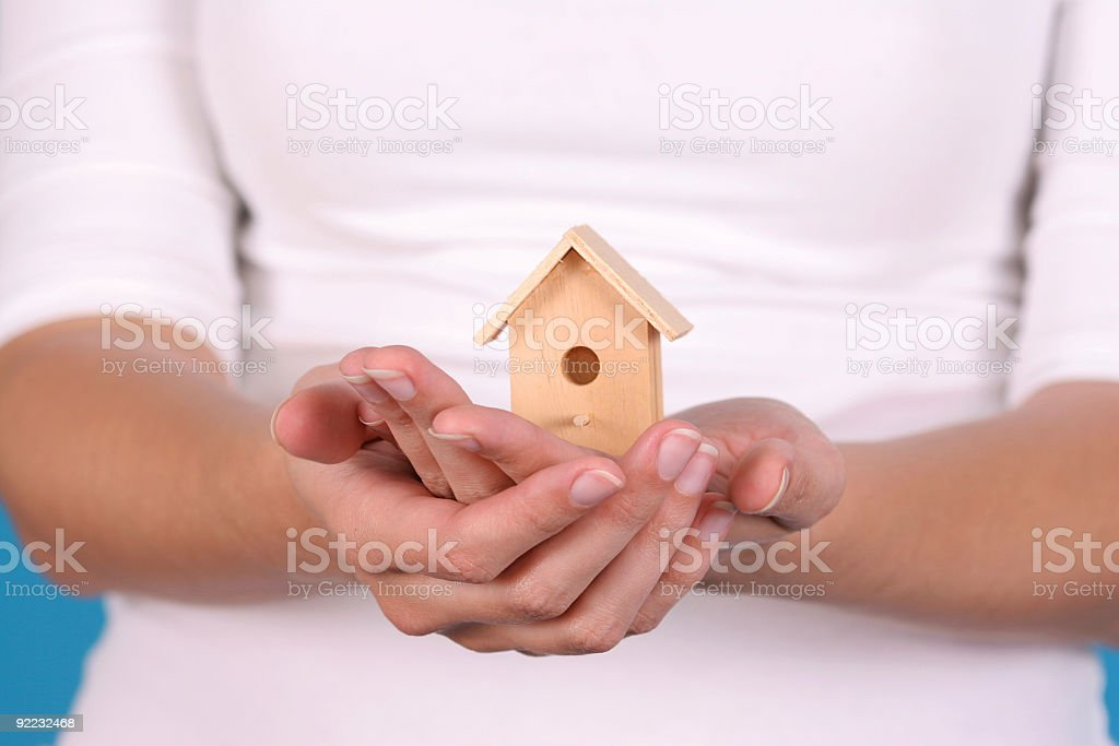 House in the hands royalty-free stock photo