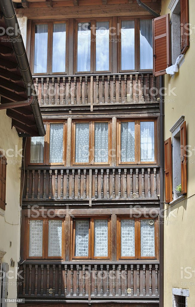 house in the historic center royalty-free stock photo