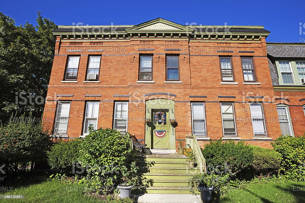 House in the Historic Pullman District, Chicago stock photo