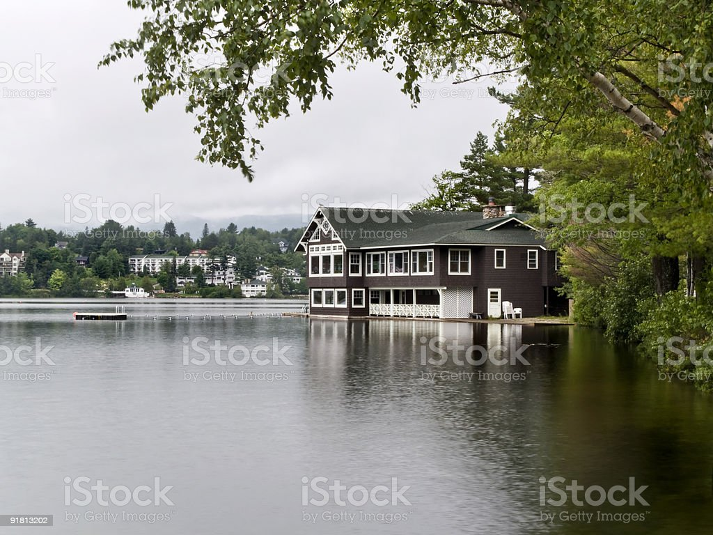 House in the Lake stock photo