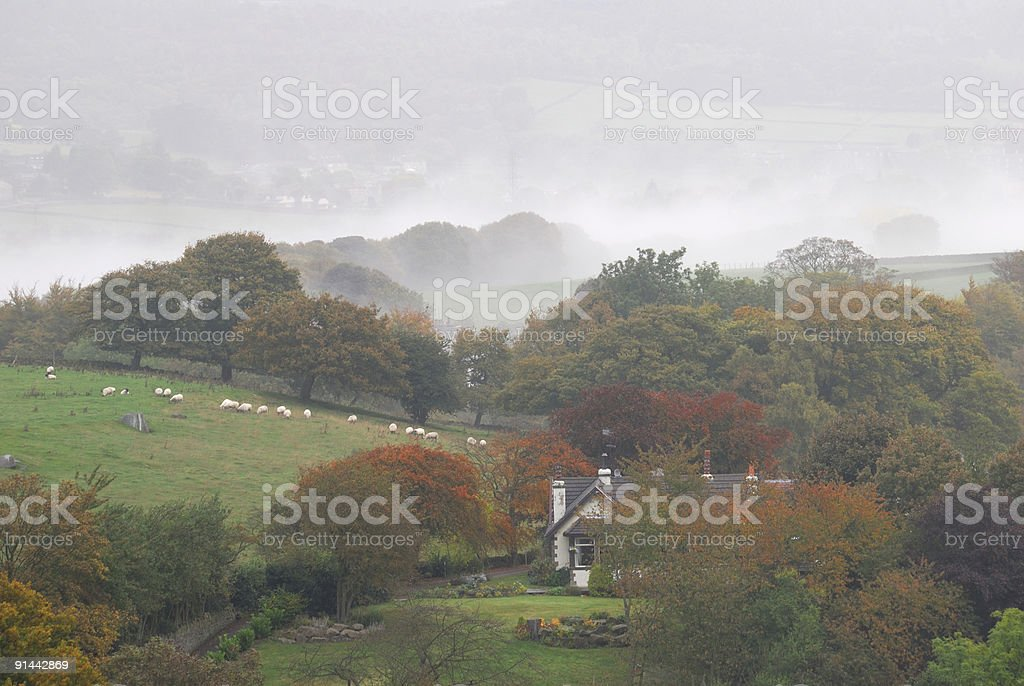 House in the mist royalty-free stock photo