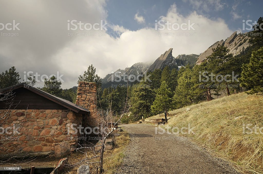 House In the Mountains stock photo