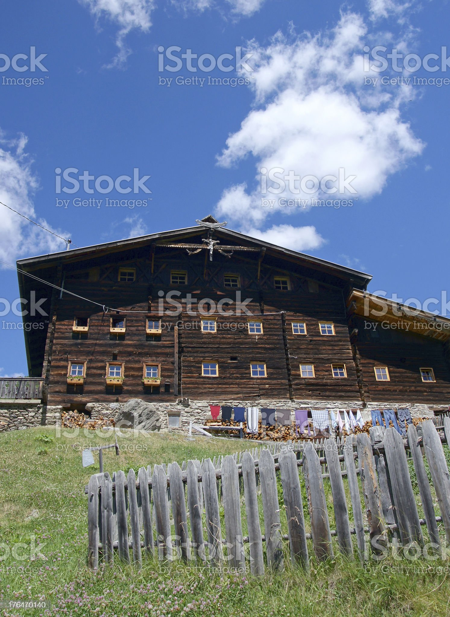 House in the mountains royalty-free stock photo