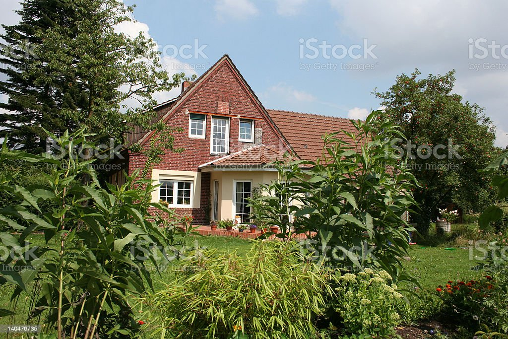 House in the Muensterland, Germany royalty-free stock photo