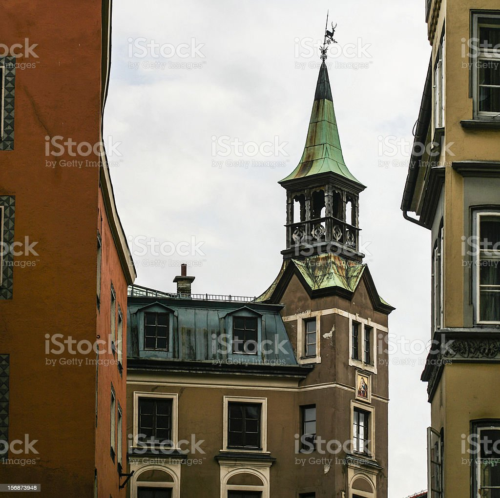 house in the old town of Innsbruck royalty-free stock photo