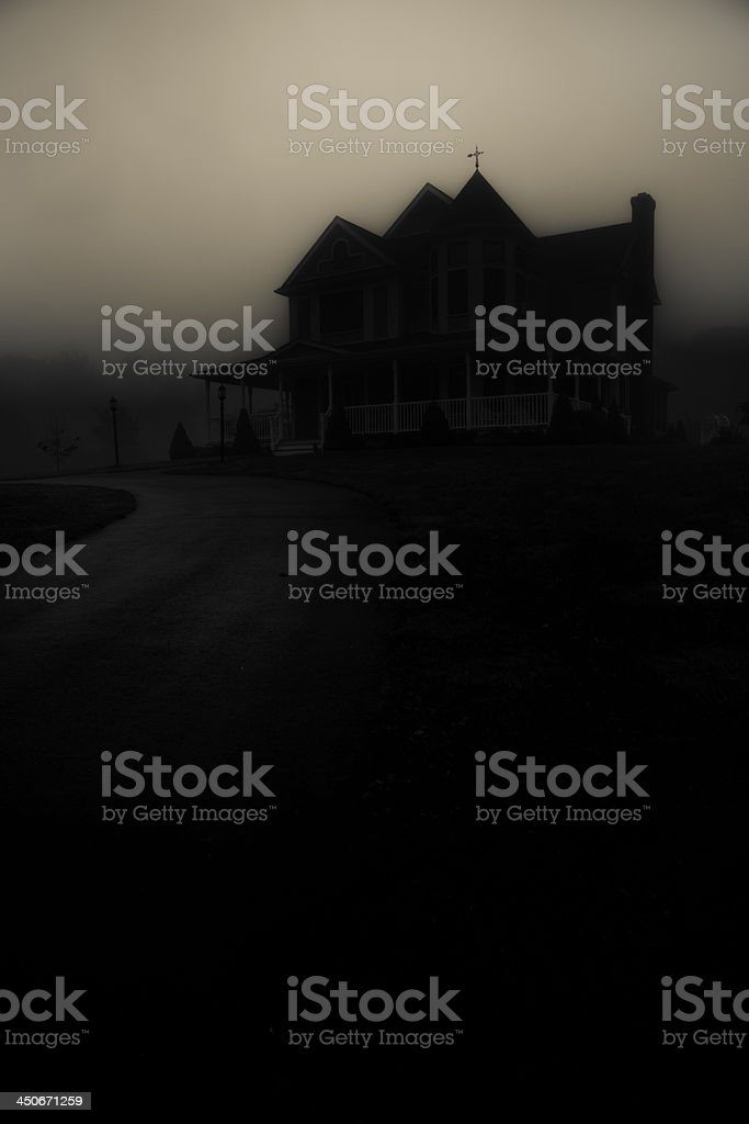 House in the Shadows stock photo