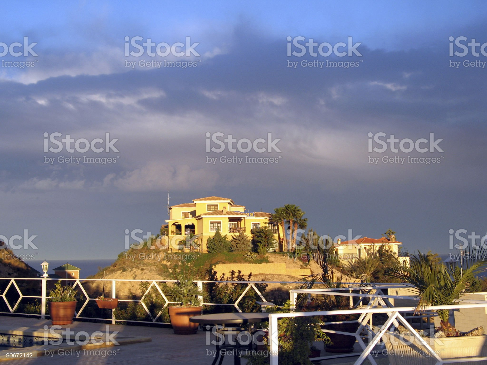 House in the sun royalty-free stock photo