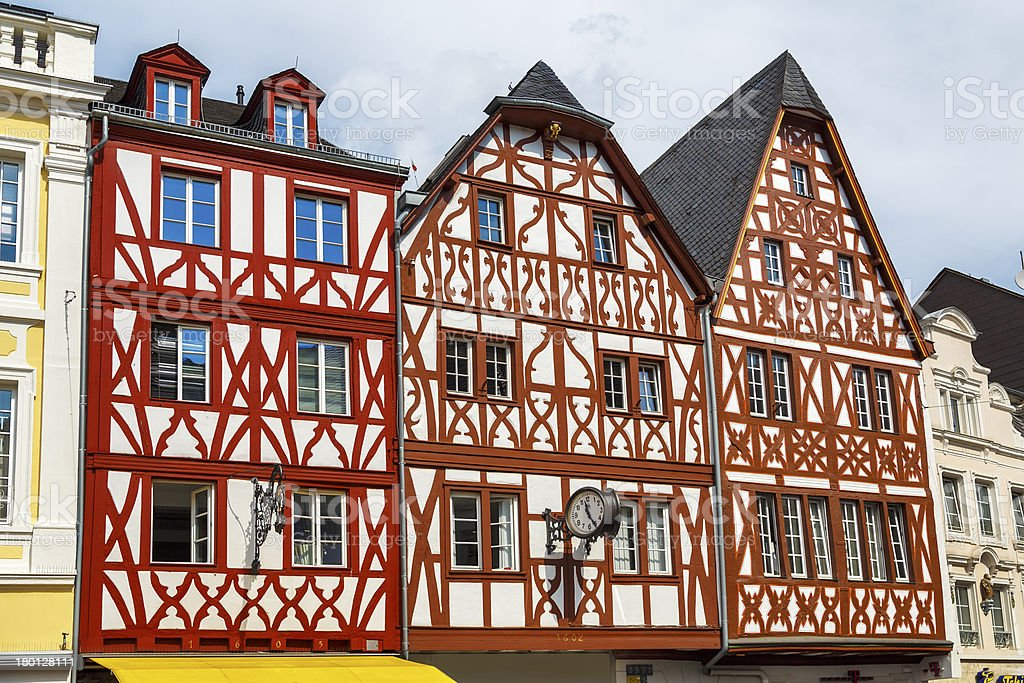 house in Trier Germany stock photo