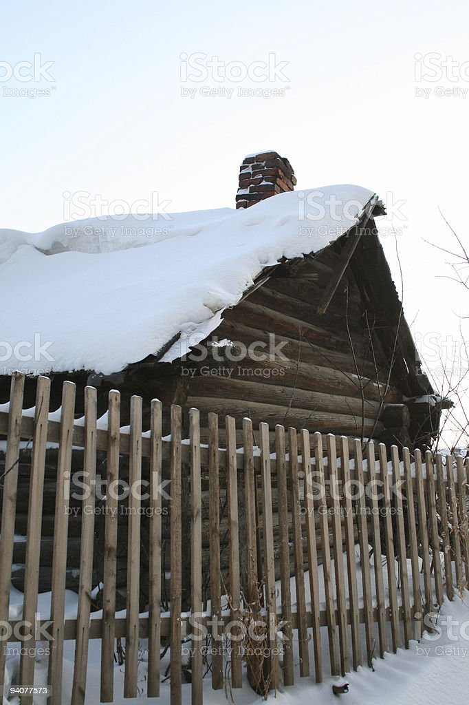house in village royalty-free stock photo