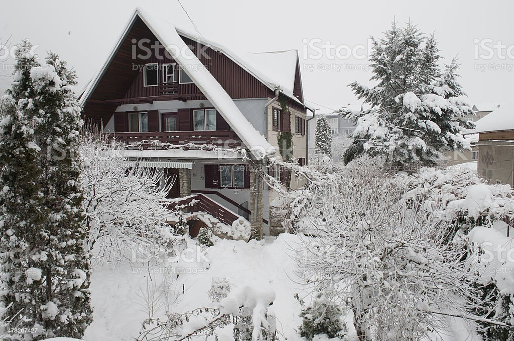 House in winter royalty-free stock photo