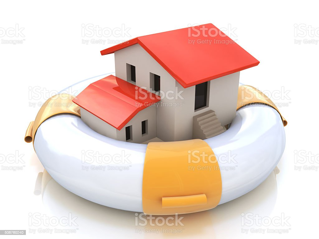 House insurance home owner protection from mortgage interest rat stock photo