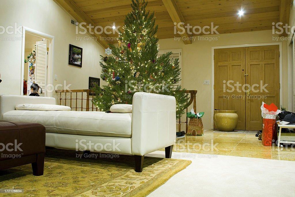 House Interior Christmas royalty-free stock photo