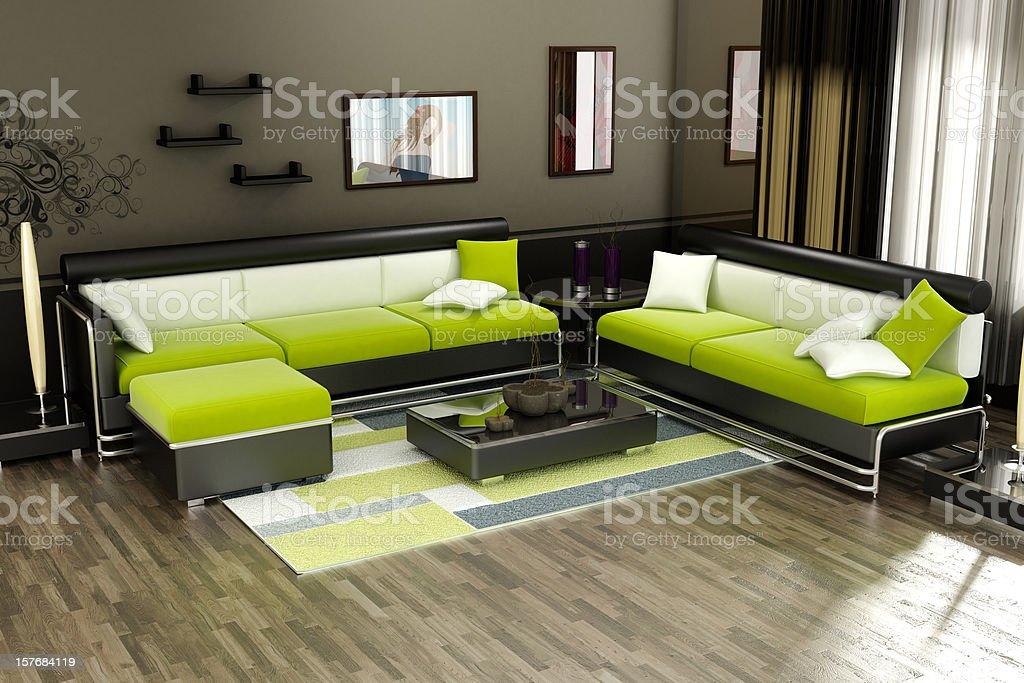 House interior design royalty-free stock photo