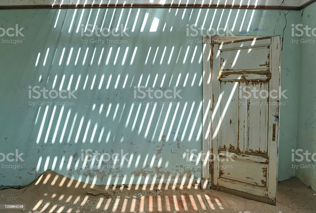 House interior in Kolmanskop royalty-free stock photo