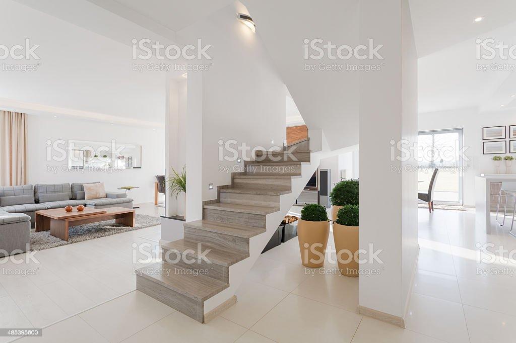 House interior in minimalistic style stock photo