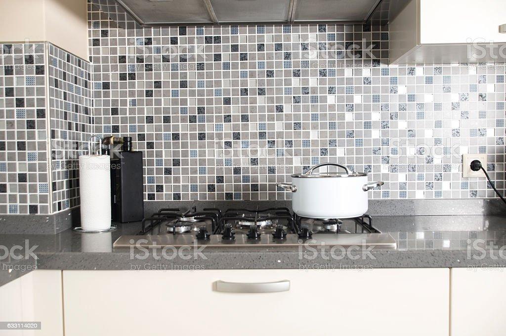 House Interior Kitchen stock photo