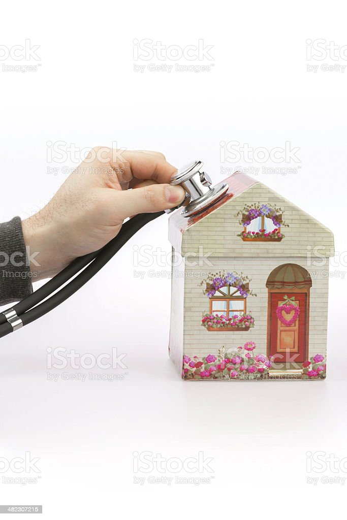 House is checked royalty-free stock photo