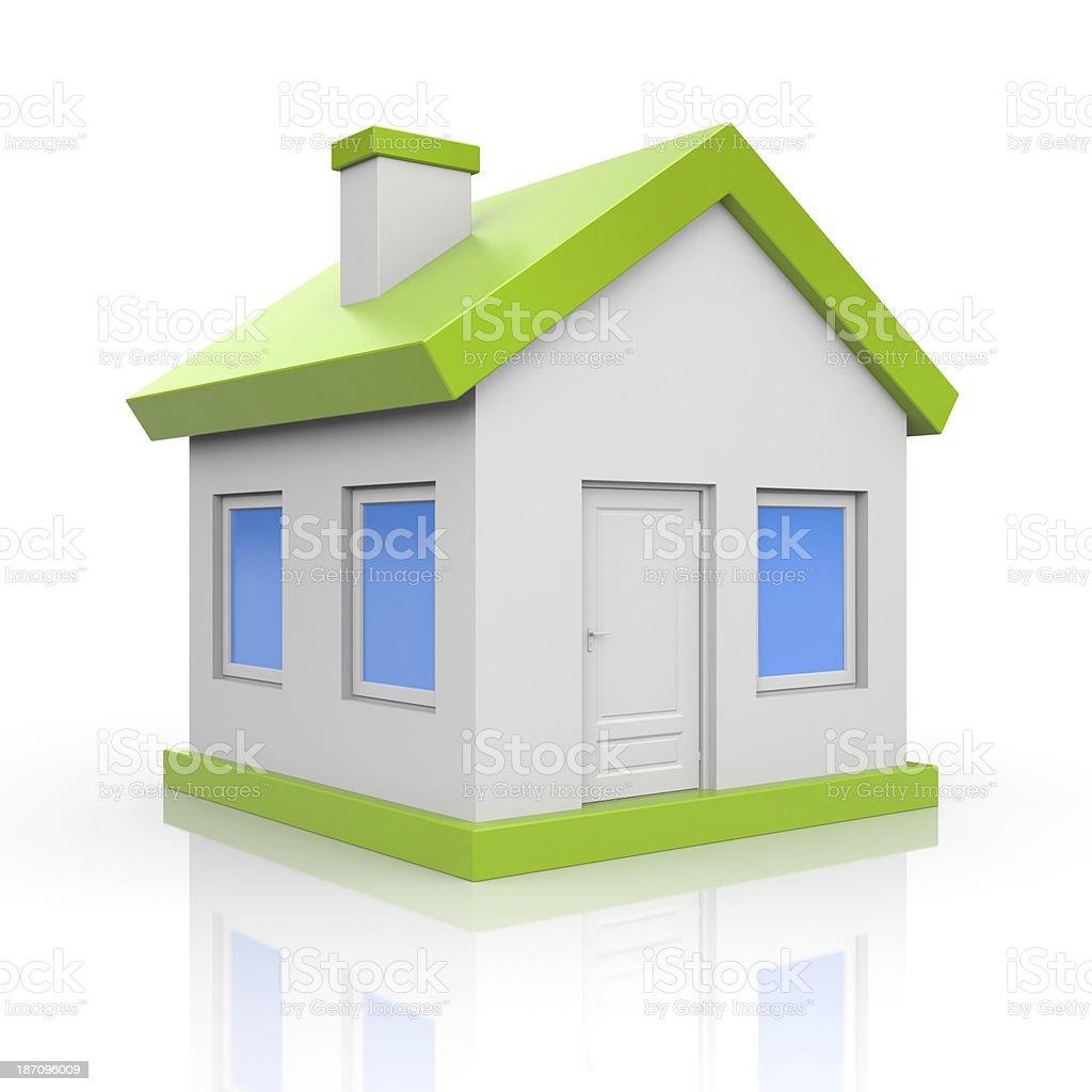 House. Isolated on white royalty-free stock photo