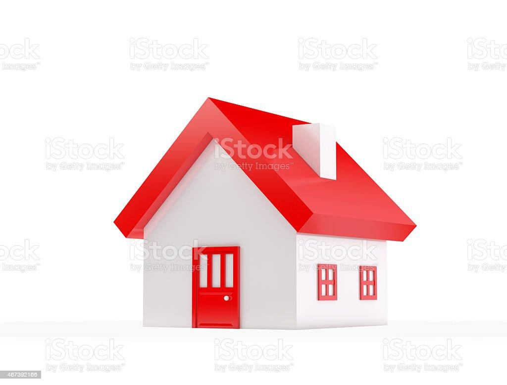 House , isolated on white stock photo