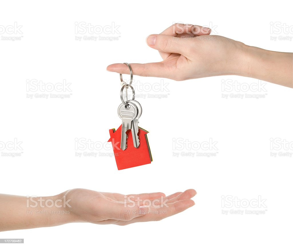House keys (clipping paths included) stock photo