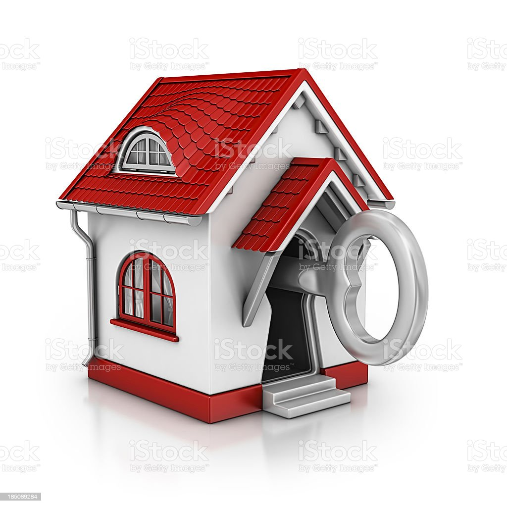 house lock stock photo