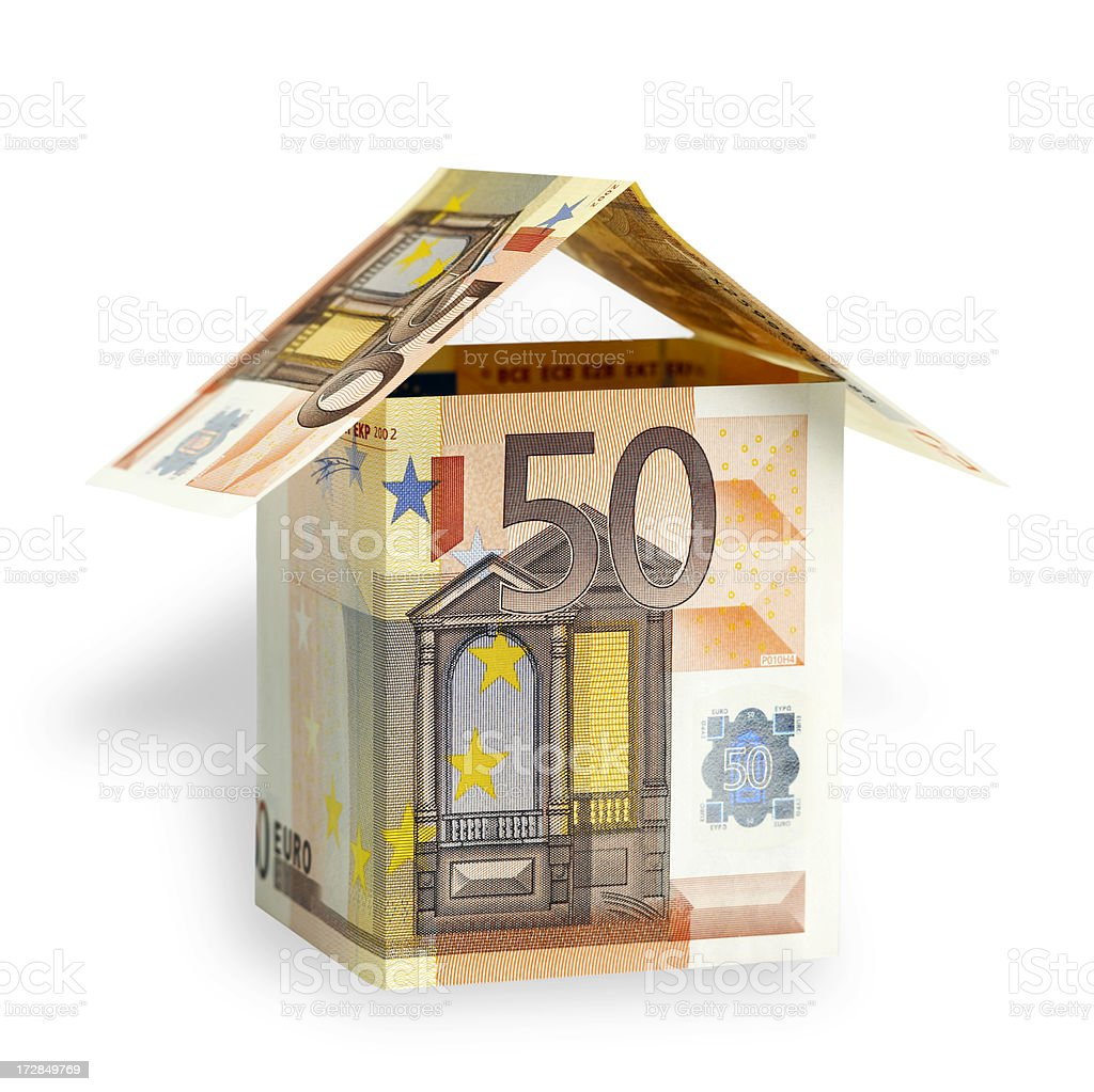 House made from banknotes royalty-free stock photo
