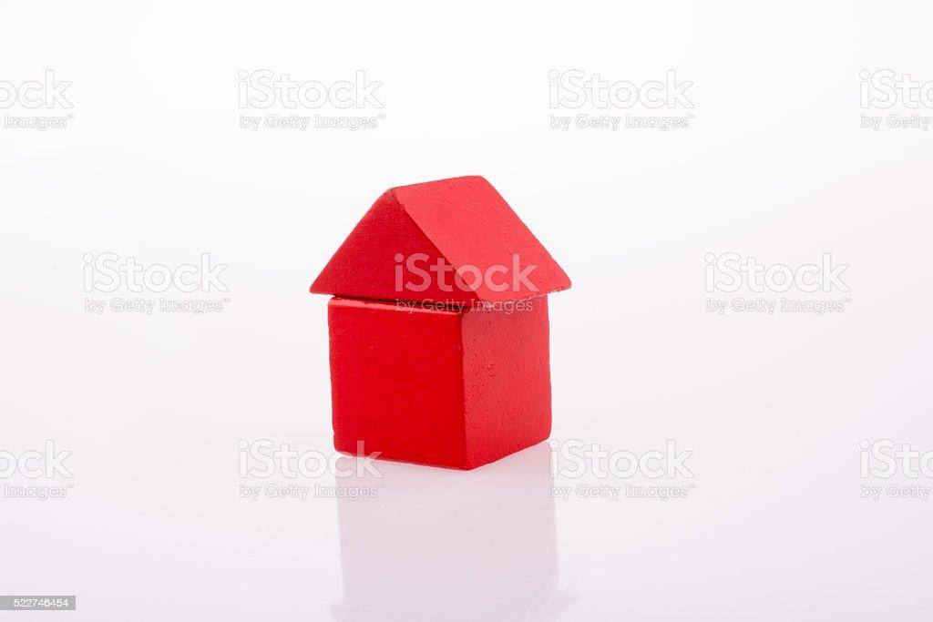 House made of Blocks stock photo