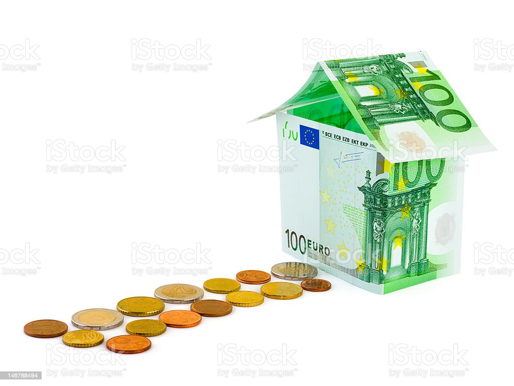 House made of money royalty-free stock photo