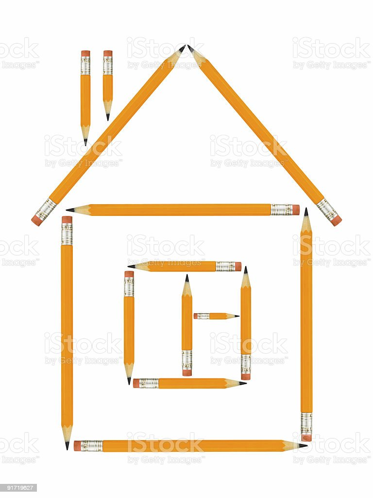 House made of pencils royalty-free stock photo