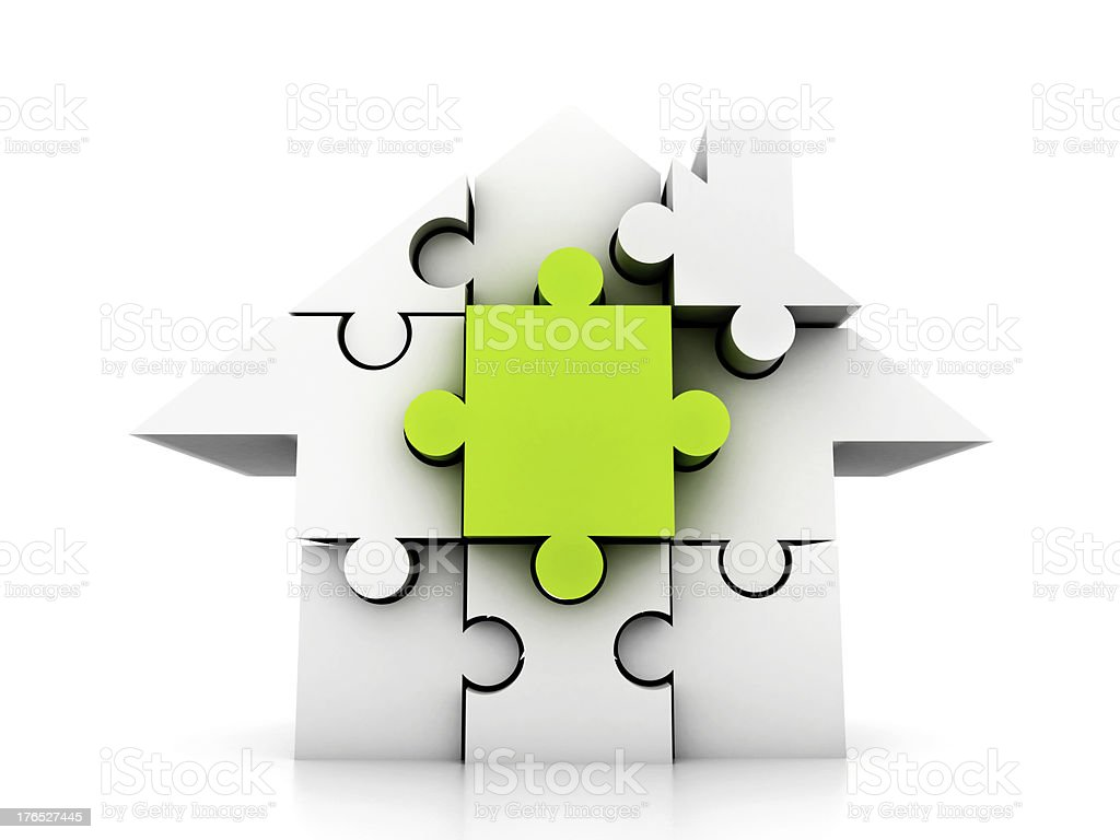 House made of puzzle royalty-free stock photo