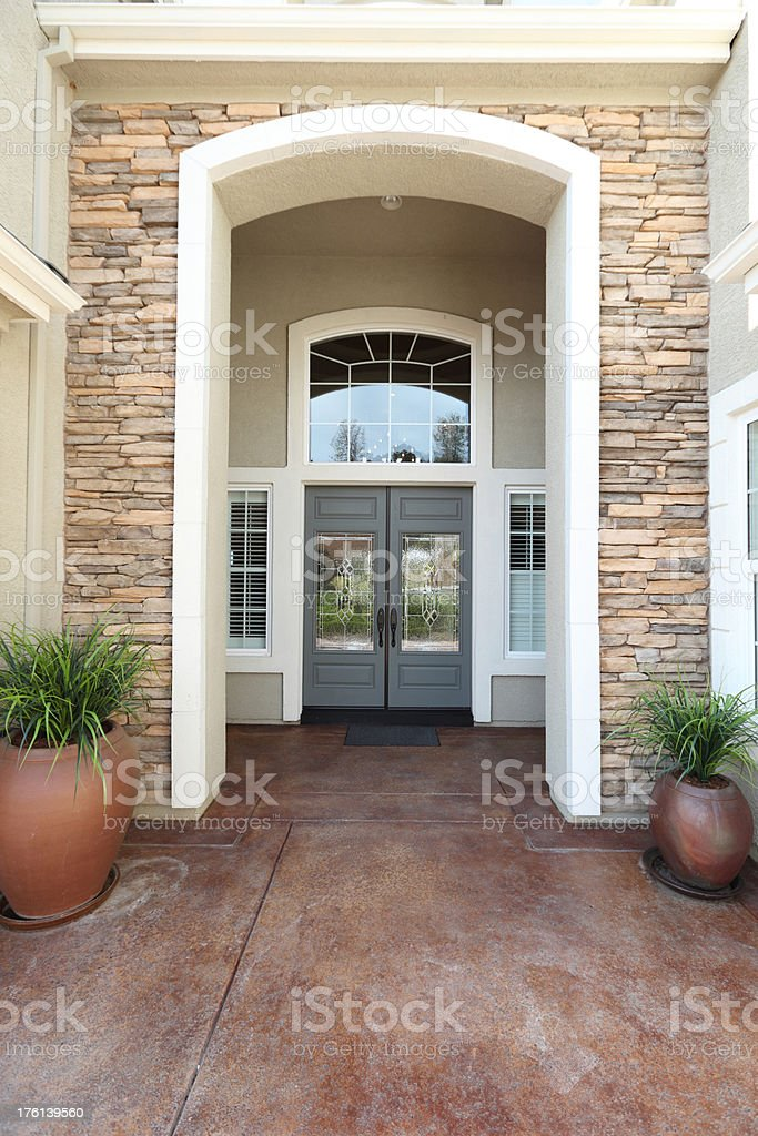 House Main  Entrance stock photo