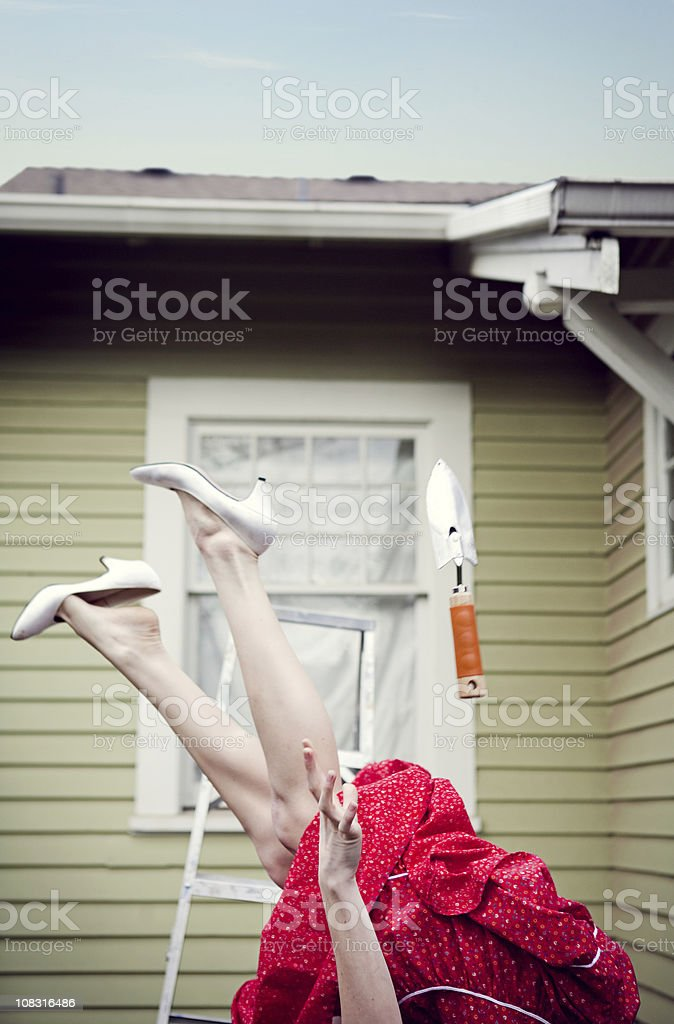 House Maintenance Accident royalty-free stock photo
