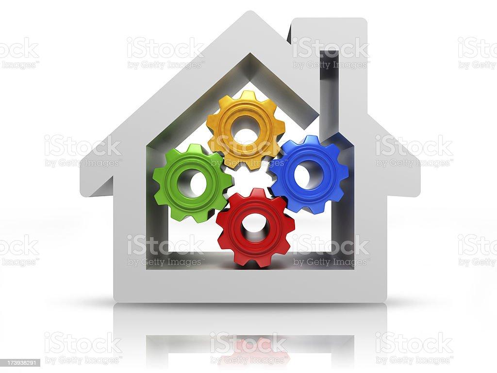 house maintenance royalty-free stock photo