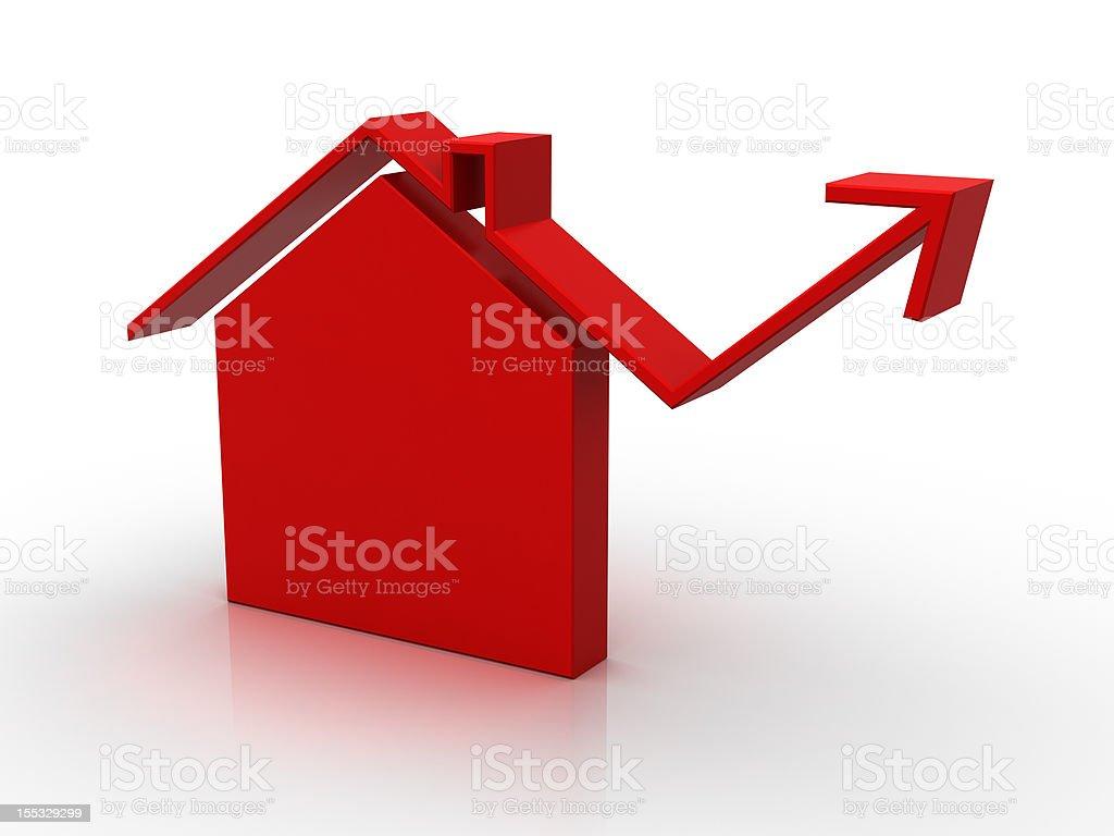 House market (isolated) stock photo