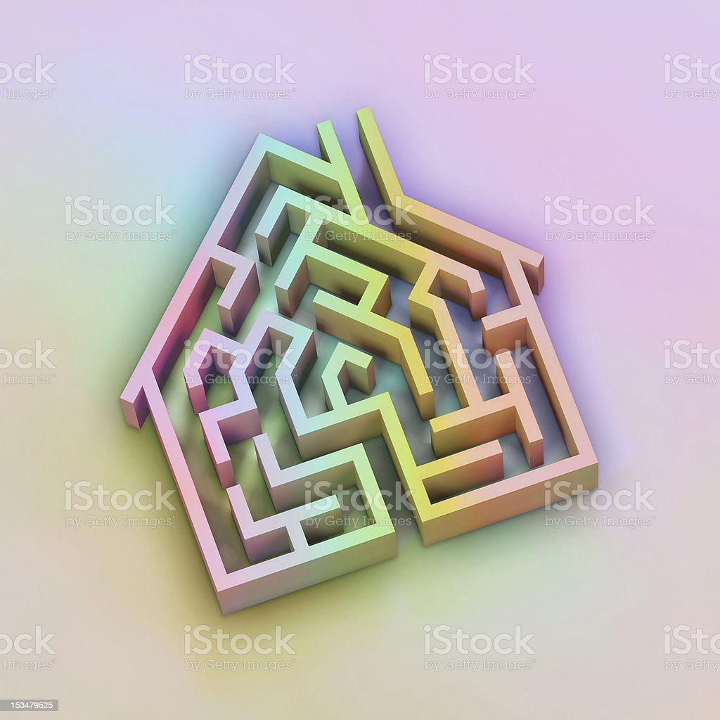 House Maze royalty-free stock photo