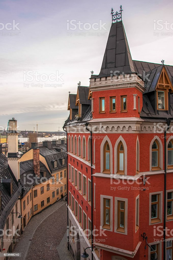 House Mikael Blomkvist, Stockholm, Sweden stock photo