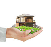 House model concept in  hand