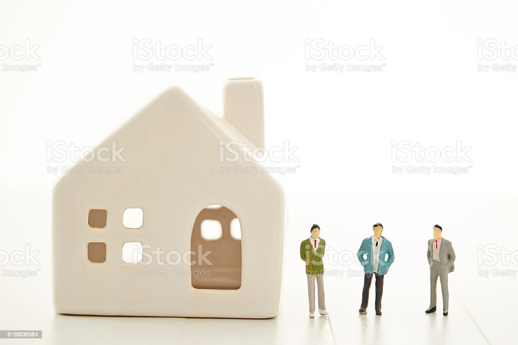House model with men stock photo