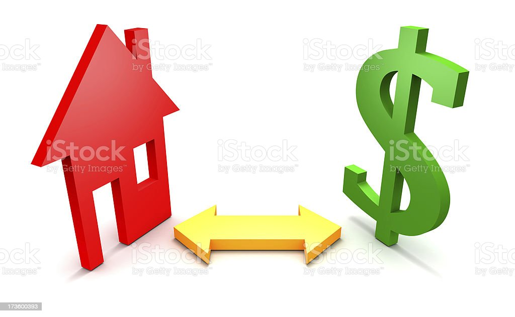House - Money stock photo